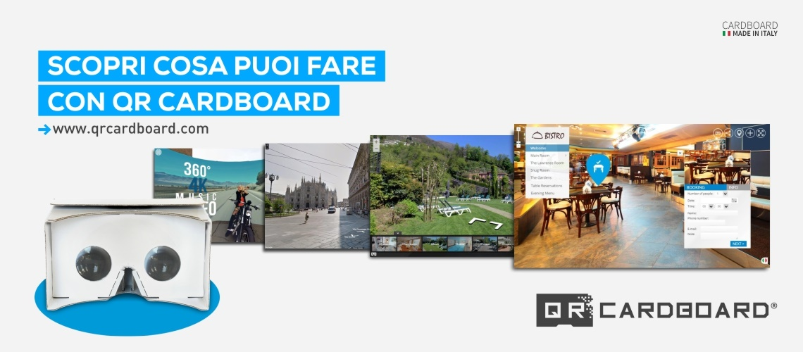 SCOPRI COSA FARE CON QR CARDBOARD SU YOUTUBE, TOURMAKE, GOOGLE