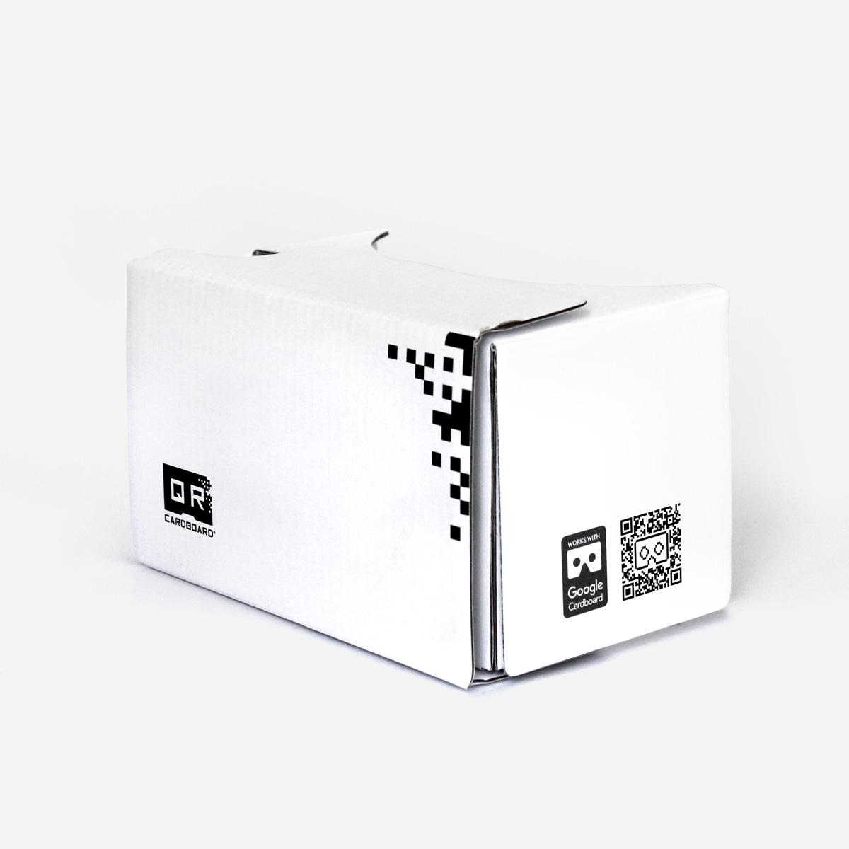white qr cardboard v2. Black Bedroom Furniture Sets. Home Design Ideas